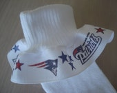 New England Patriots NFL Inspired MTM   Ruffle Socks for  Infants Toddlers  Girls