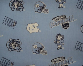 Baby Boy or Girl Burp Cloth Made with 100% Cotton University of North Carolina NCAA Tar Heels Fabric