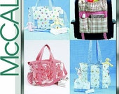 McCalls Laura Ashley Diaper Bags and Car Organizer