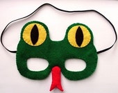 SALE Snake, felt mask for Halloween