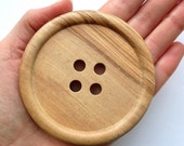 2 x Giant 8cm / 3inch Wooden Buttons