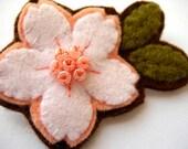 Cherry Blossom pin, white