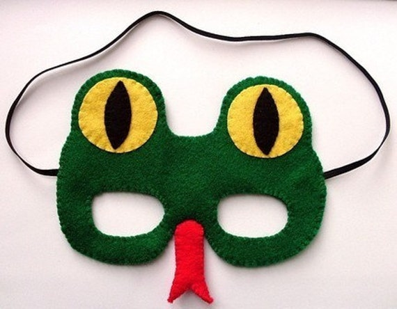 SALE Snake, felt mask for Halloween