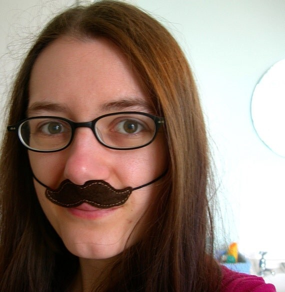 Brown Moustache Disguise