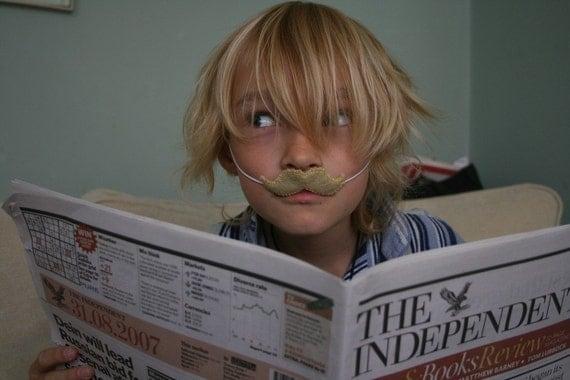Blond Moustache Disguise