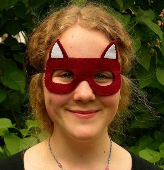 fox felt mask. Black Bedroom Furniture Sets. Home Design Ideas