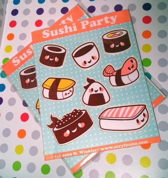 Sushi Party Sticker Sheet
