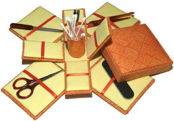 Etui Box Manicure Kit Orange