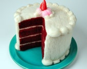 Felted Cake . Red Velvet