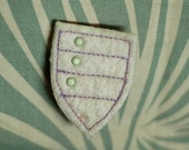 Felt Military Badge . White and Pastel