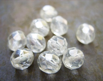 Crystal Luster Czech Crystal Beads - 8MM - B-4640
