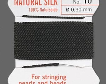 Black Silk Thread - Size No. 10 - B-6455