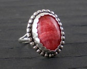 Rhodocrosite Sterling Ring