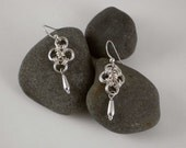 Japanese Chainmaille sterling Earrings