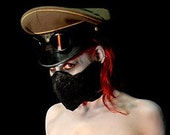 Latex and Neoprene Cybergoth Face Mask 20-22in head riotgear occupy