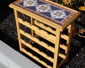 Teak \/ Tile Wine Rack