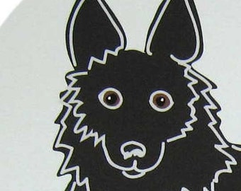 Clever- a Schipperke in the Dog Series Art Print