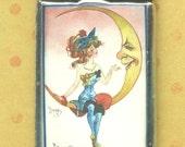Romantic Girl On Moon Adorable Pendant Charm