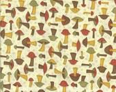 Vintage Mushroom Print Fabric