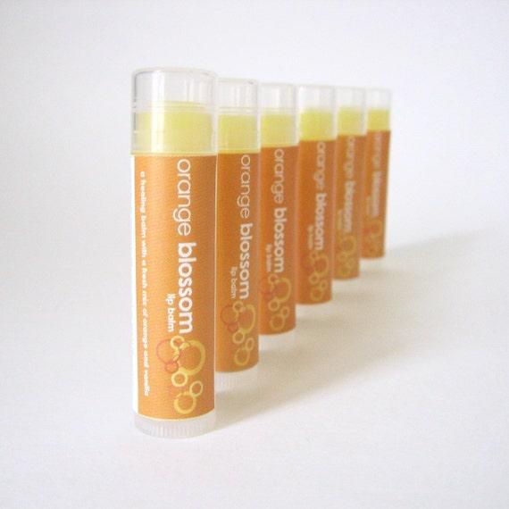 Orange Blossom Lip Balm - with Shea Butter and Organic Coconut Oil