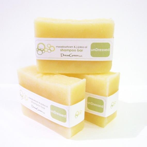 Short Cuts SALE - unDressed Shampoo Bar with Jojoba and Meadowfoam Seed Oils