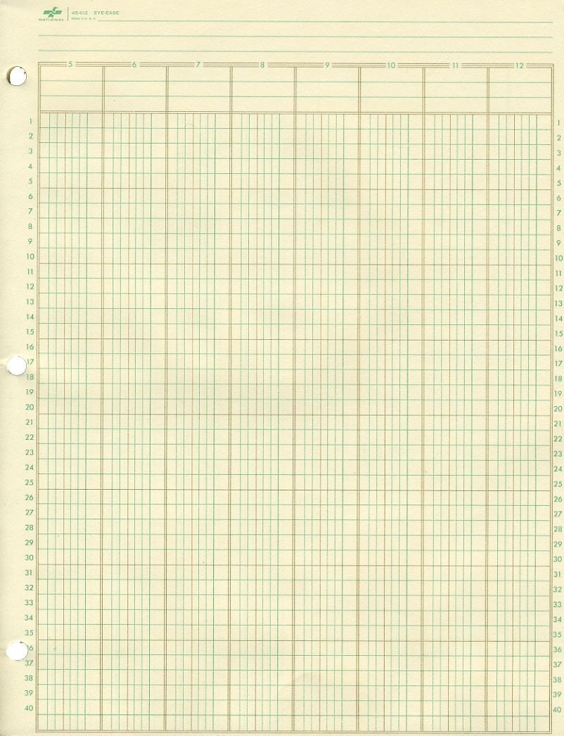 Priceless image inside printable ledger paper