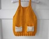 orange sweater tank