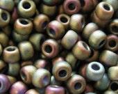 10 gr 8/0 Matte Metallic Khaki Iris MIYUKI Seed beads 2035