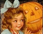 Spooky Halloween Vintage Style Etsy Shop Banner by Sea Dream Studio