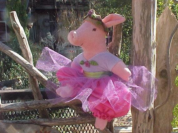 Princess Piggie, Organic Cotton Velour, Waldorf Inspired