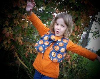 SALE! Reversable Halloween Fall vest for Kids