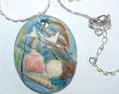 Washed Up from the Sea Polymer Clay Pendant Charm \/ 1st of a series \/ Seashells