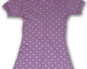 Purple Hoodie Tunic with Silver Skull and Rose Print