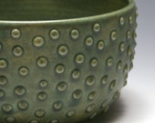 Green Dotted Bowl