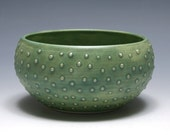 Small Green Bowl with Raised Dots