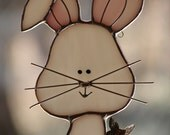 Stained Glass Rabbit