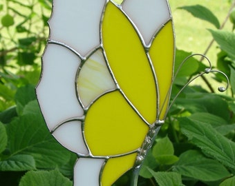 Yellow Butterfly Garden Stake
