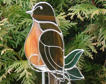 Red Breasted Robin Garden Stake