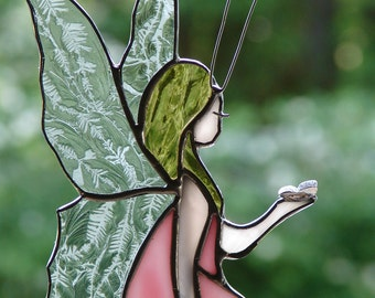 Stained Glass Fairy Garden Stake