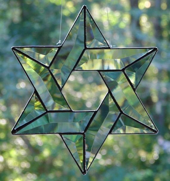 Beveled Glass Star of David