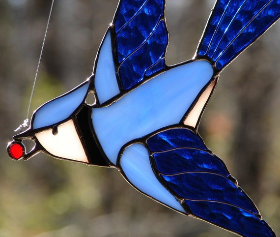 Stained Glass Bluejay