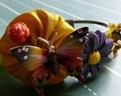 butterfly garden - cuff bracelet with vintage sparkles