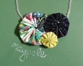 maypole - silk and cotton yo-yo necklace