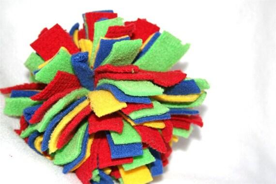 Fleece Dog Ball - Small - Kindergarten Colors
