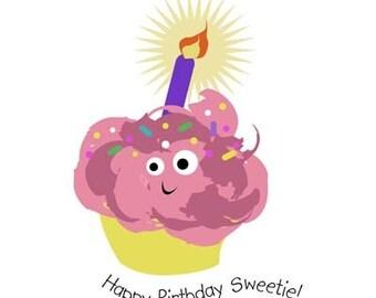 Cupcake Birthday Notecard Set