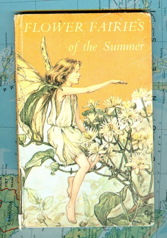 Vintage Flower Book Cover : Flower fairies antique book on flowers lovely by