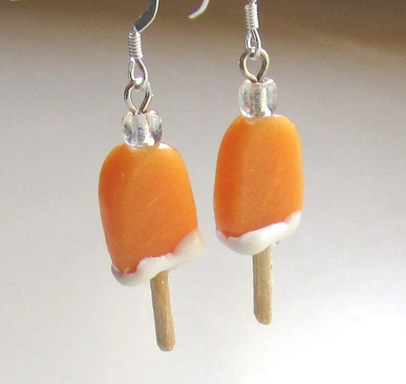 Orange Creamsicle Popsicle Earrings
