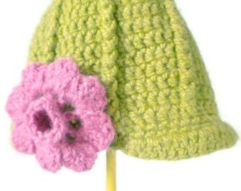 Crochet Newsboy Cap in Pear - winter hats for men - winter hats for women - hats for boys - hats for girls