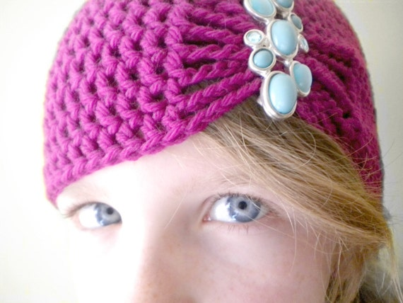 Fuschia Flapper Style Cloche Hat - Design your own hat with colors and ...