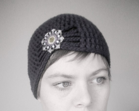 Flapper Style Cloche Hat - Design your own hat with colors and brooches - Winter Hats for Women